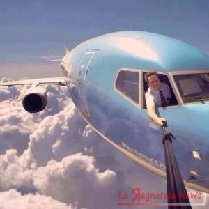 selfie aereo