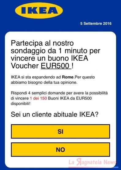 Truffa del buono sconto IKEA su WhatsApp