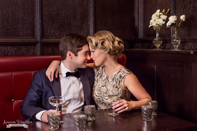 Great Gatsby vintage bridal shoot