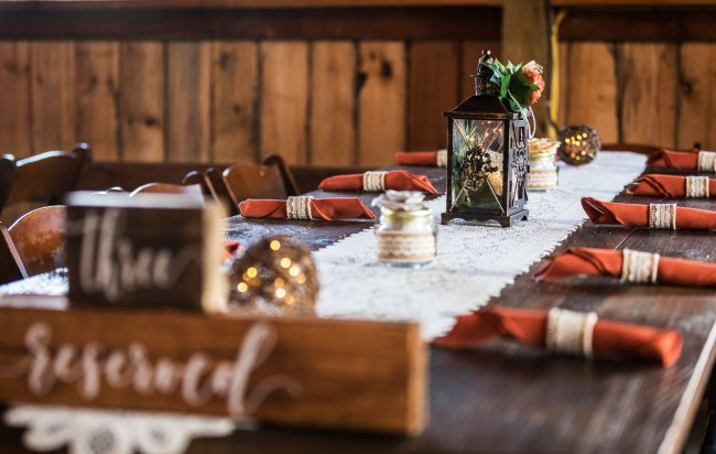 farm wedding table settings