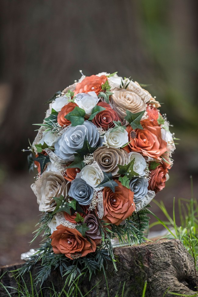 paper flower boquet