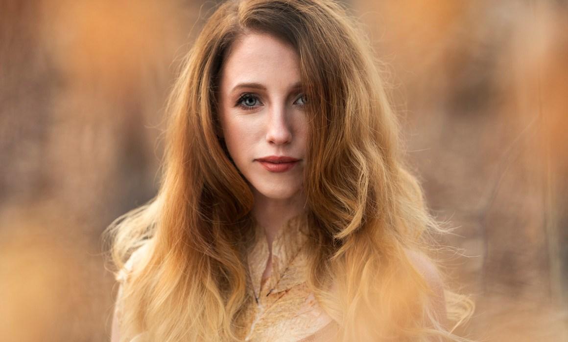 woman with auburn hair