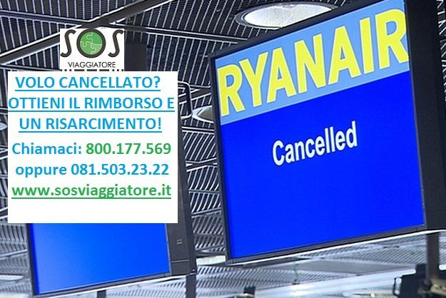 cancellazione voli Ryanair