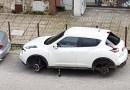 Aversa. Segnalazione cittadino: furto ruote in via Giovanbattista Vico