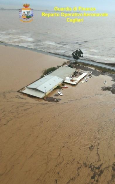 maltempo sardegna ponte alluvione