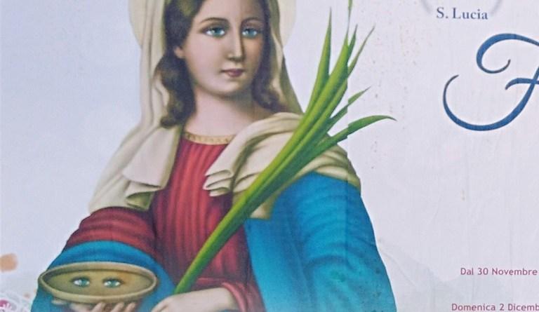 Oggi 13/12 si festeggia Santa LUCIA