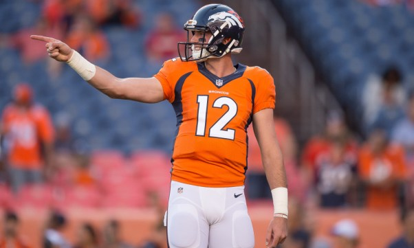 Broncos QB #12 Paxton Lynch (Photo credit: Dustin Bradford / Getty Images)