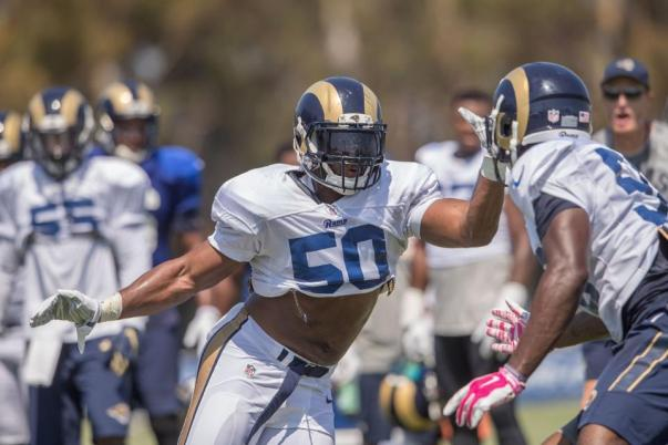 LB #50 Cameron Lynch (Image credit: Jeff Lewis / www-therams.com)