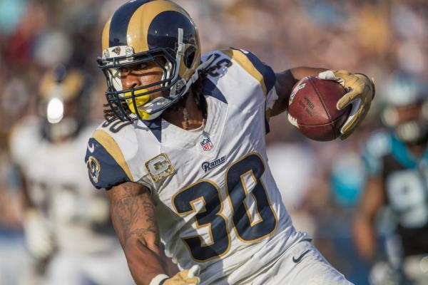 Rams HB #30 Todd Gurley (photo credit: Jeff Lewis / www.therams.com)