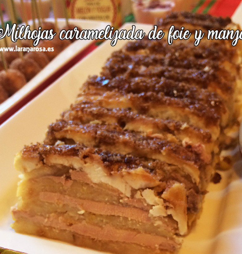 Milhojas caramelizada de foie y manzana