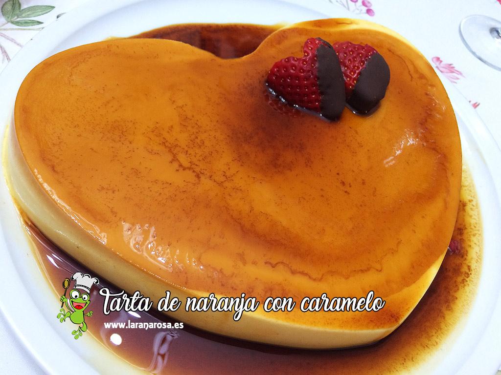 Tarta de naranja con caramelo - La rana Rosa