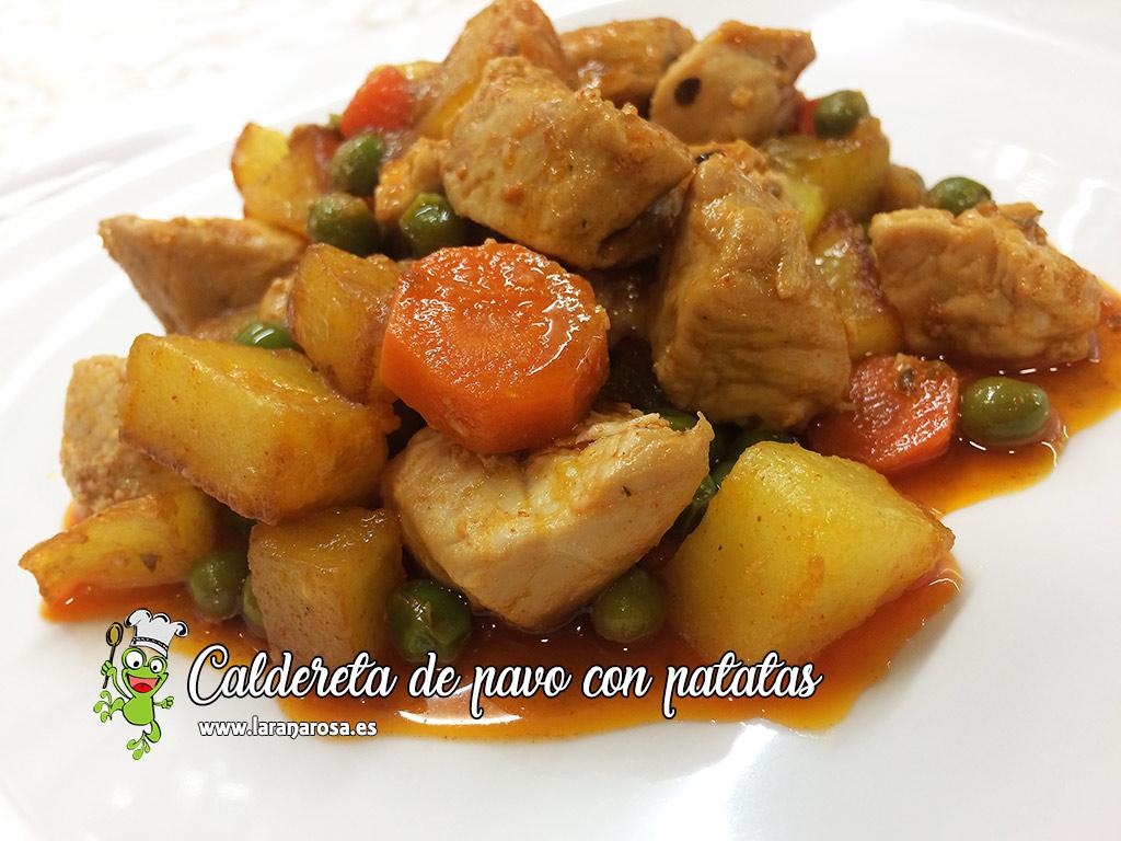 Caldereta de pavo con patatas