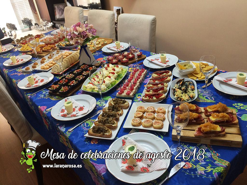 Mesa de celebraciones de agosto 2018