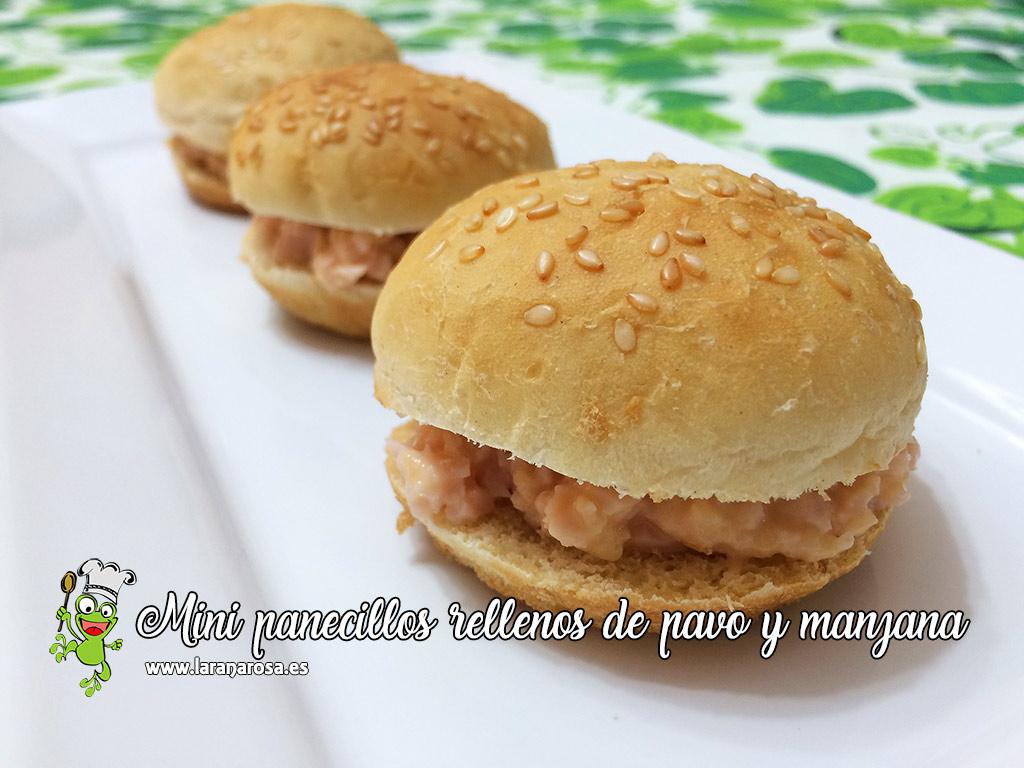 Mini panecillos rellenos de pavo y manzana