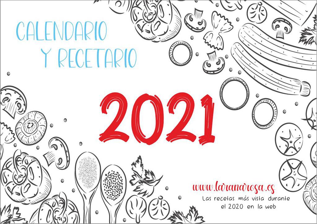 Descargate de manera gratuita el calendario con recetario 2021 de La rana Rosa