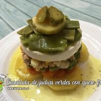 Ensalada de judías verdes con queso fresco