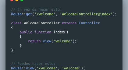 Route view en Laravel