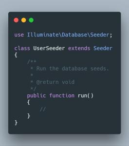 Seed de User