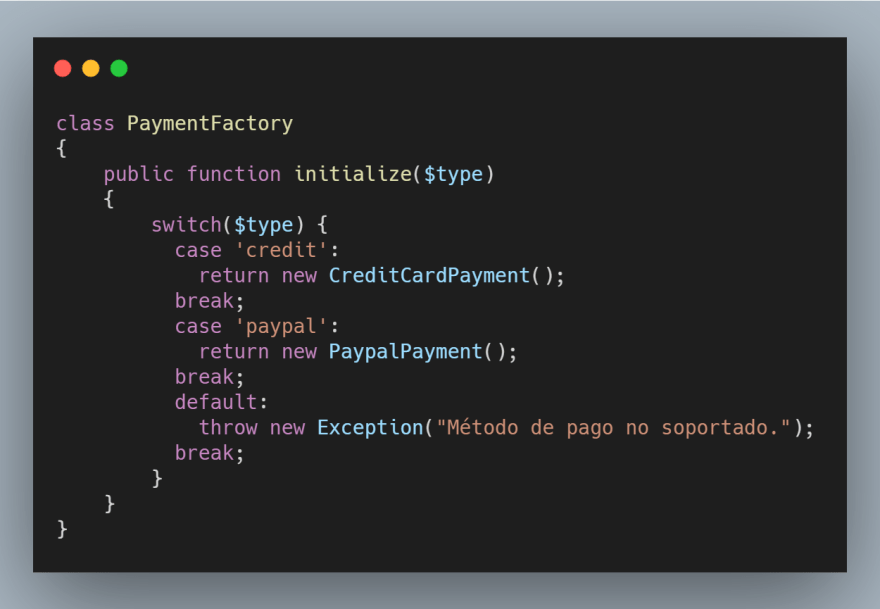 PaymentFactory Initialize