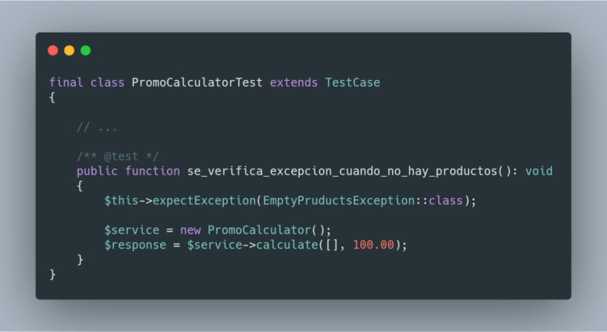 unit test exceptions