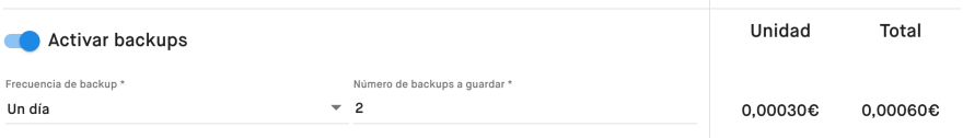 Backup con Clouding