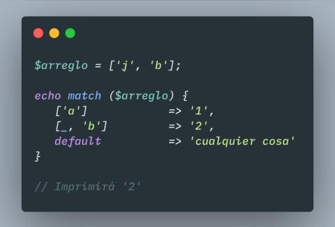 pattern matching en php