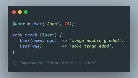 Pattern Matchin en PHP: Name Binding