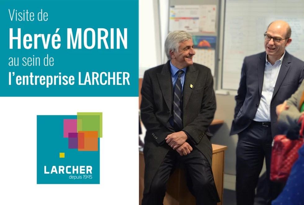 LARCHER Particuliers Services - Visite de Hervé MORIN au sein de l'entreprise LARCHER