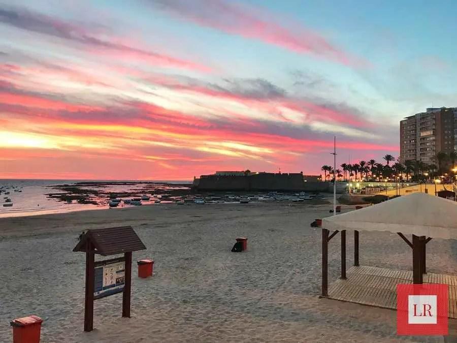 Atarceder en la Playa de la Caleta (Cádiz)