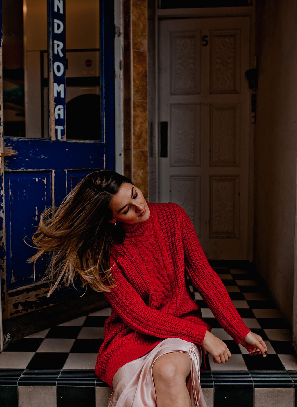 Matalan red jumper knitwear autumn winter style