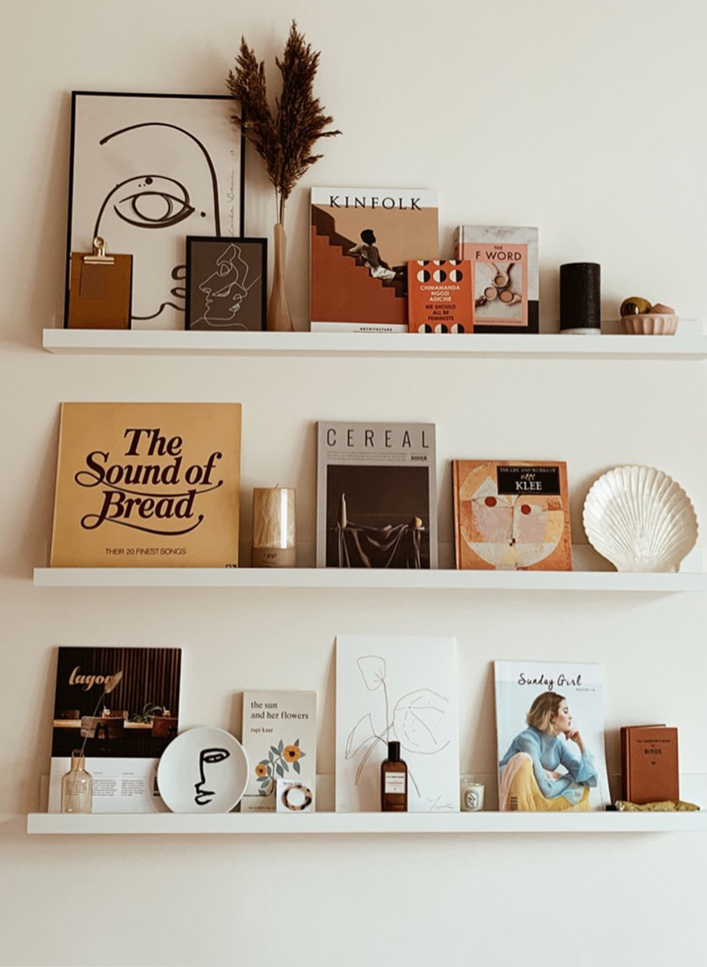 shelf styling, open shelving, interior styling, home makeover, renovation, bedroom makeover, wall art, cereal mag, Kinfolk home, the little deer, hm home, lily pebbles