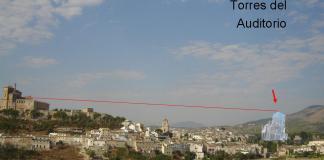 Simulación altura de las Torres del Auditorio de Caravaca