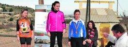 Las tres primeras clasificadas en categoría femenina.