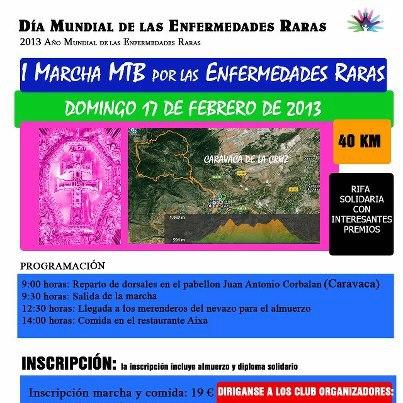 I Marcha MTB por la Enfermedades Raras en Caravaca de la Cruz