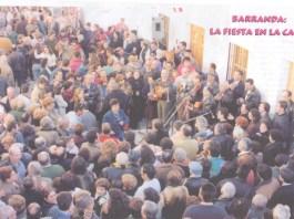 Foto general de la Cuadrilla del Campo San JUan en plena actuación en Barranda.