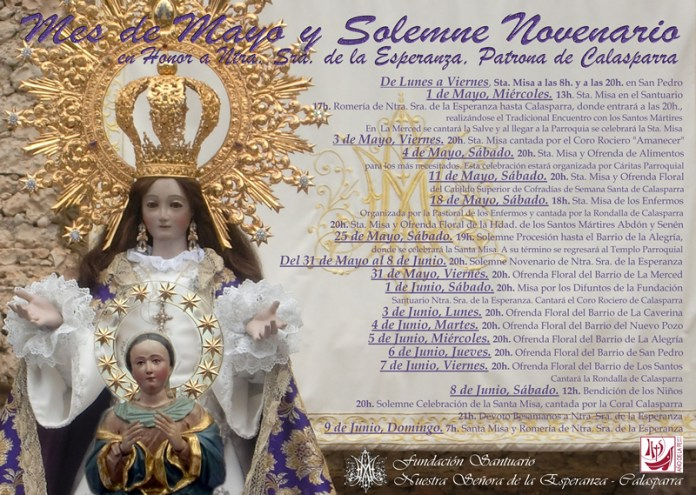 Cartel Mayo 2013 romería de Ntra. Sra. de la Esperanza hasta Calasparra