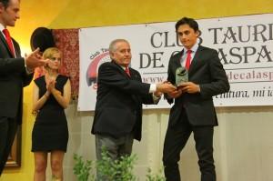 Filiberto, en la entrega de premios del Club Taurino de Calasparra