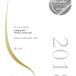 la-regola-2014-DWWA2018-silver-92points