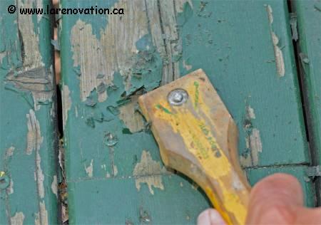 decaper une surface de bois