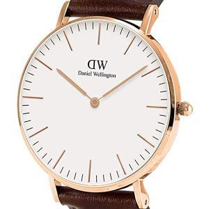 Reloj analógico para caballero de cuero Daniel Wellington