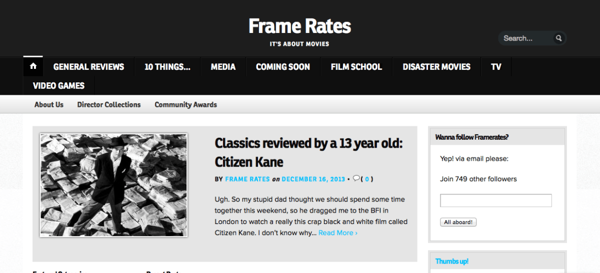 The Large Association of Movie Blogs   LAMB #1719 – Frame Rates