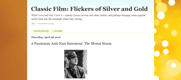 #1810 Classic Film Flickers of Silver and Gold