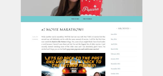 #1838 Popcorn and Film