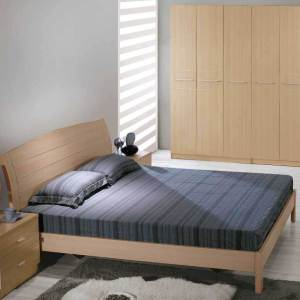 Adorable Series 013 – King Size Bed Frame (Upholstered) With 2 Night Stands