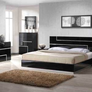 Adorable Series 025 – King Size (6ft by 6ft) Bedframe (High Gloss Finishing) With 2 Night Stands