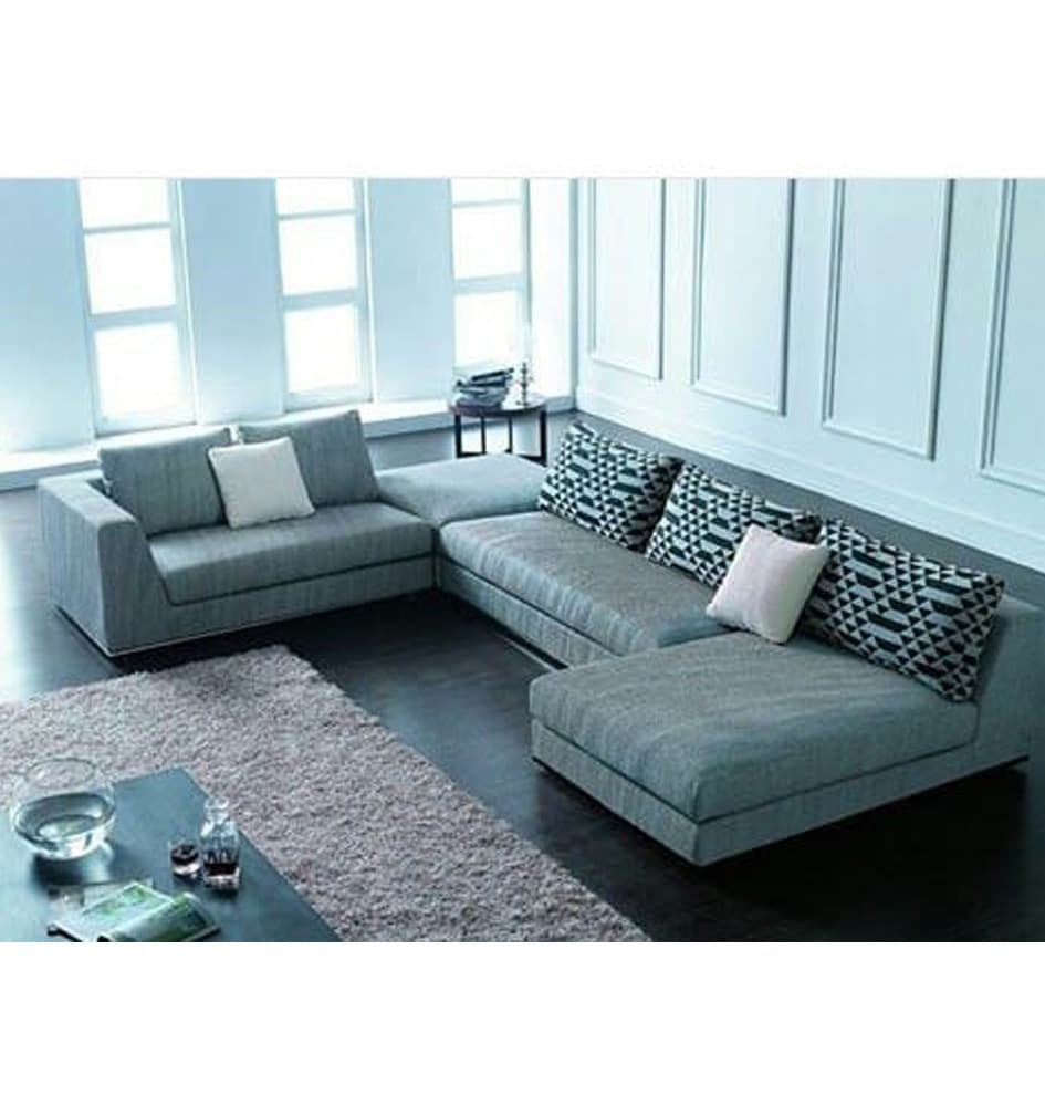 Buddies Series 7 Seater Sectional Sofa With Side Ottoman - Buddies Series – 7 Seater Sectional Sofa With Side Ottoman