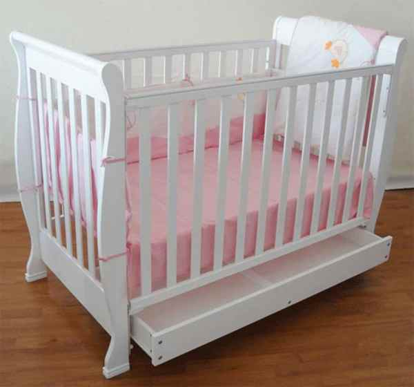 Glorious Kids – Baby Cot Frame With Base Storage