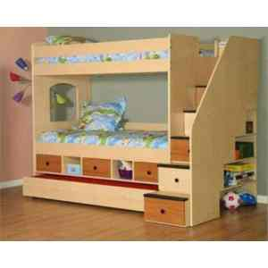 Glorious Kids Room Set 030 – 3 in 1 Bed Frame With Storage
