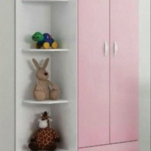 2 Door Kids Wardrobe   Ornament Shelve (90cm x 210cm)