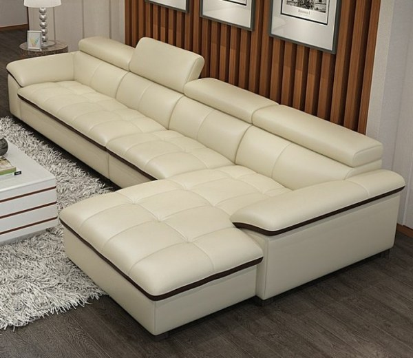 Abbot Series 5 Seater Sectional Premium Leather Sofa